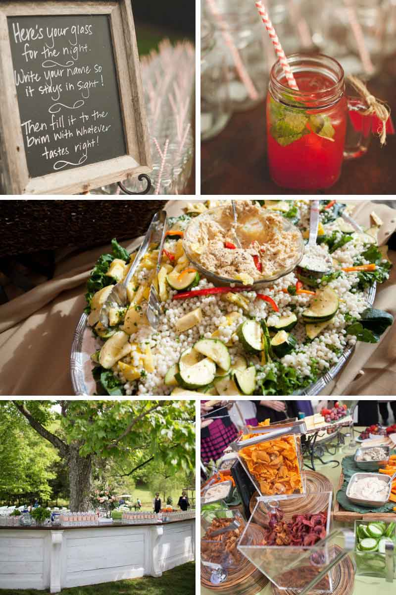 fun wedding reception menu