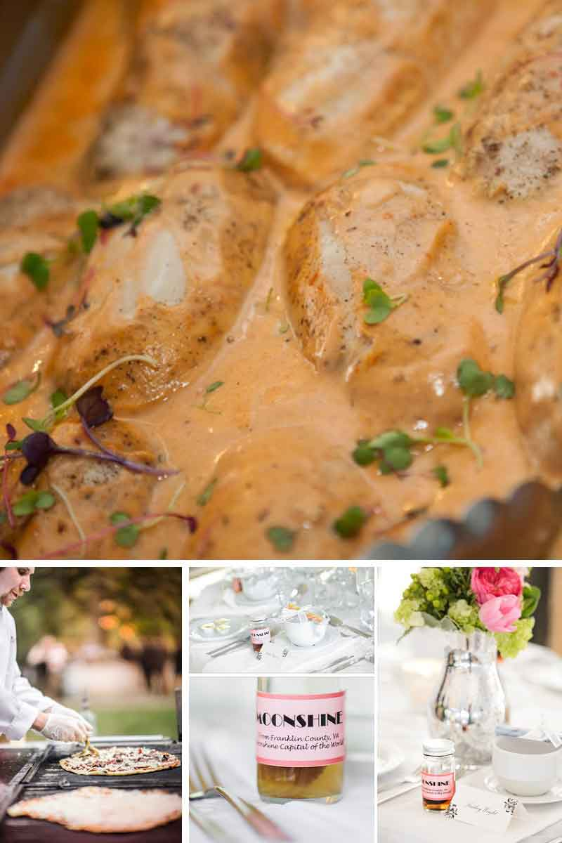 elegant wedding food