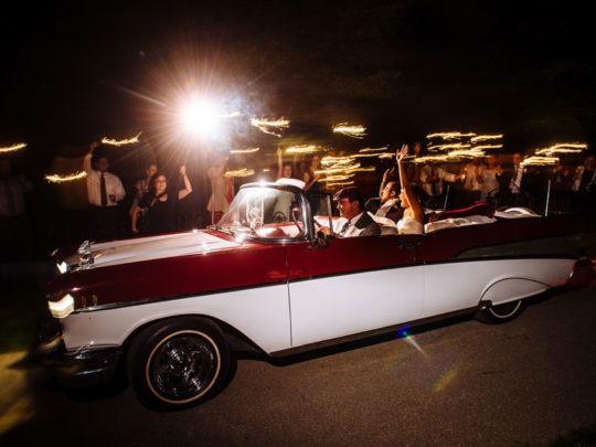 bride-&-groom-car
